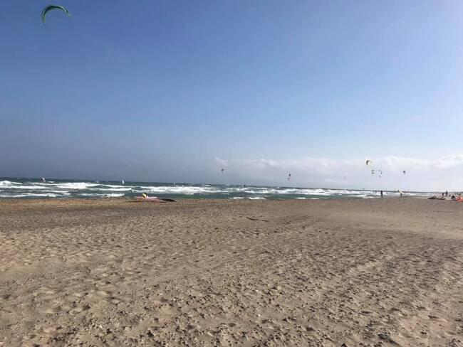 Cà souffle sur Canet plage !