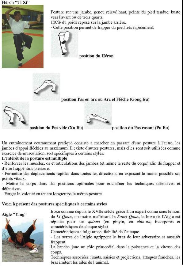 Kung-fu : repères d'Animaux martiaux