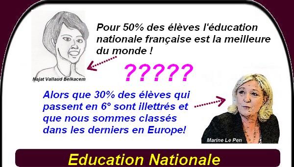 Najat Vallaud Belkacem ne travaille que pour 50% des élèves! Et les autres alors ?