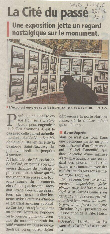 """L'expo """"La Cité de Carcassonne au fil du temps..."""" dans la presse"""