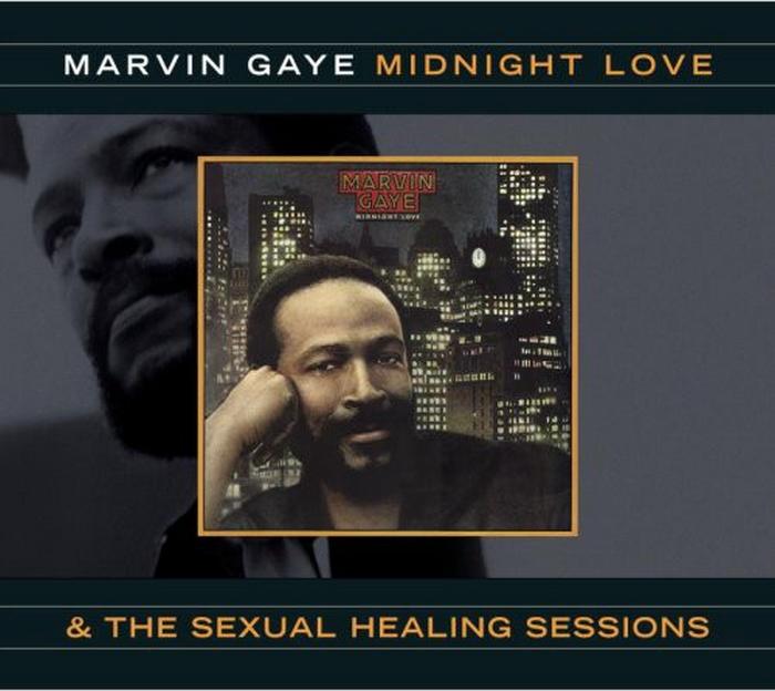 """Marvin Gaye : Album """" Midnight Love """" CBS Records CBS 85977 [ NL ] en 1982"""