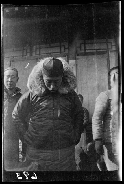 Fur collar. China, Beijing, 1917-1919. (Photo by Sidney David Gamble)