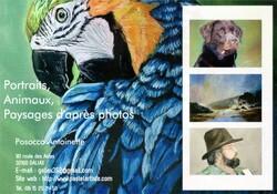 Portraits, animaux, paysages d'après photos
