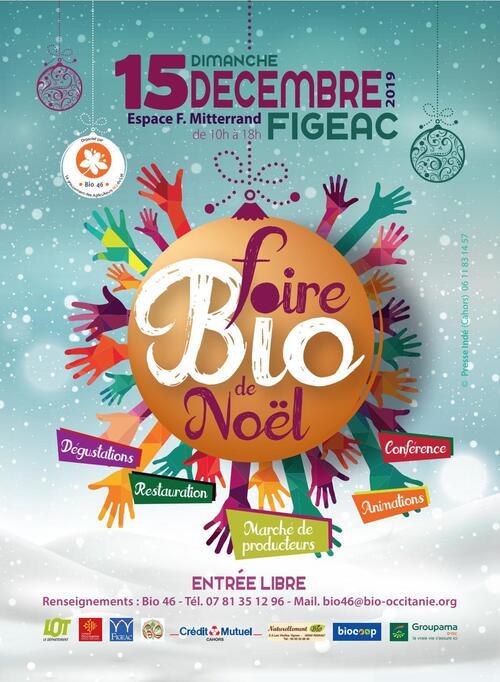 15 Décembre 2019 Foire Bio de Noël FIGEAC 46