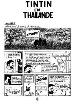 Et si on parlait Bande Dessinée... Tin' tin' en Thaïlande !