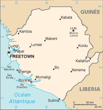 Sierra Leone-carte