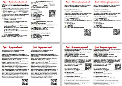 Leçons de Grammaire CM2 avec QR Codes