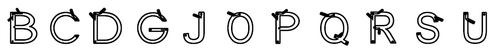 Les lettres rondes