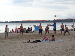 Beach volley aux Sandbanks