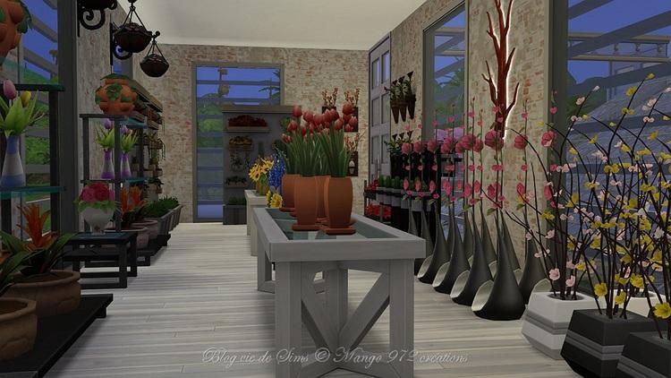 Aux fleurs de Rose, chez le fleuriste. #sims4