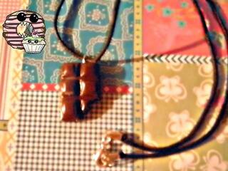 Collier tablette de chocolat fimo