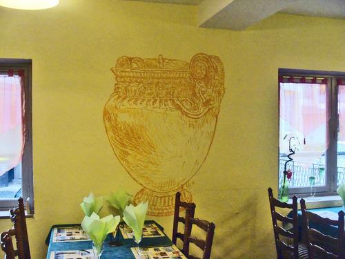 Une très belle décoration au Restaurant Saint Vorles...