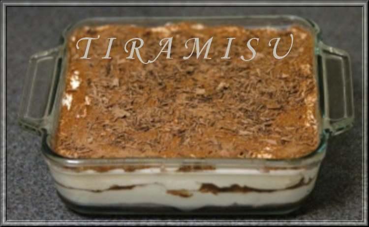 Recette de cuisine : Tiramisu