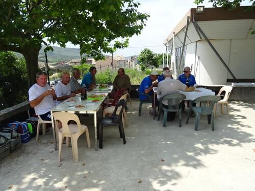 Agreable journeés au Véterans de Villeneuve de Berg malgré le temps trés chaud et lourd