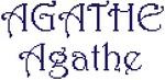Dictons de la Ste Agathe+ grille prénom     !