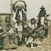 Black Crane and his family near Busby, Montana - Northern Cheyenne - before 1919