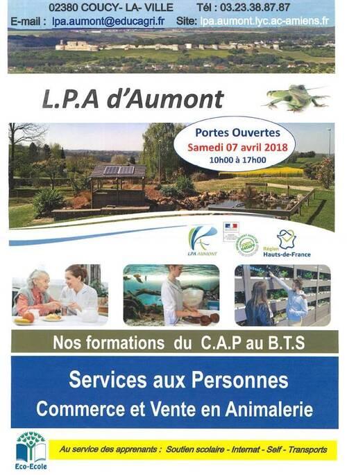 Lycée Professionnel Agricole d'Aumont à Coucy La Ville. PORTES OUVERTES.