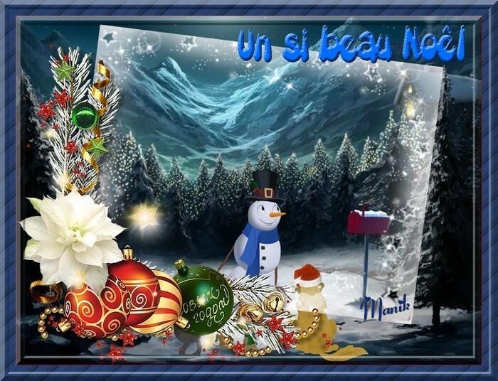 Noël bleu comme le ciel !