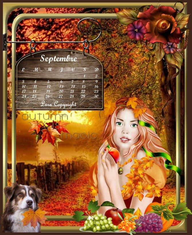 Calendrier de Septembre
