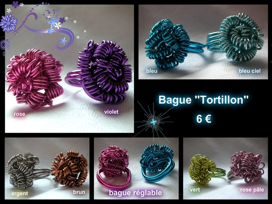 bague alu tortillon