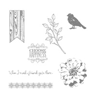 Choose Happiness Wood-Mount Stamp Set by Stampin' Up!