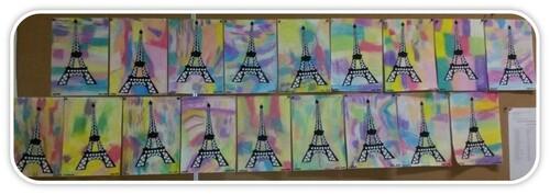 La Tour Eiffel en arts visuels