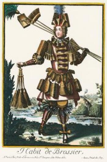 Costumes grotesques et métiers en couleur