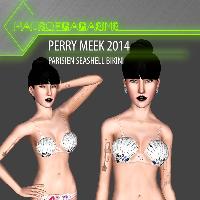 PERRY MEEK 2014 PARISIEN SEASHELL BIKINI
