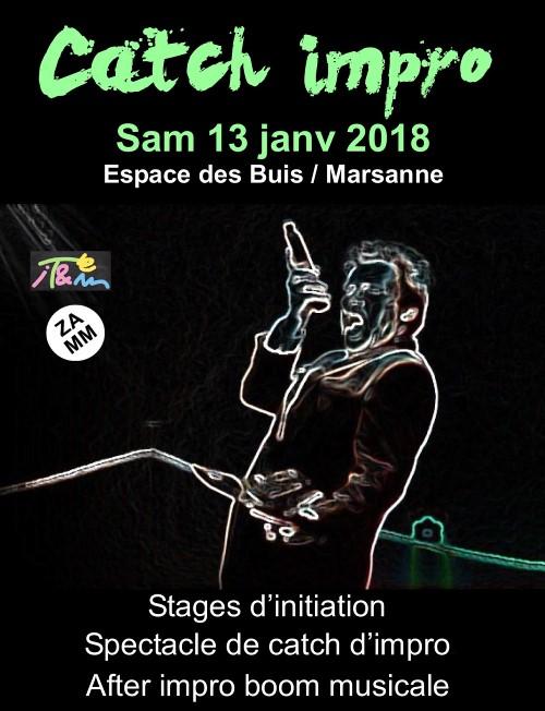 Journée théâtre d'improvisation le 13 janvier 2018 à Marsanne