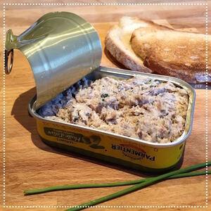 Rillettes de sardines et pain croustillant