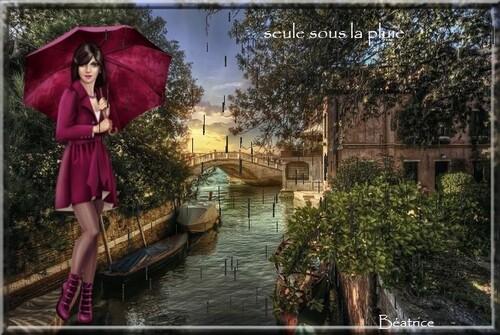 """défi Georgette """"Seule sous la pluie"""""""