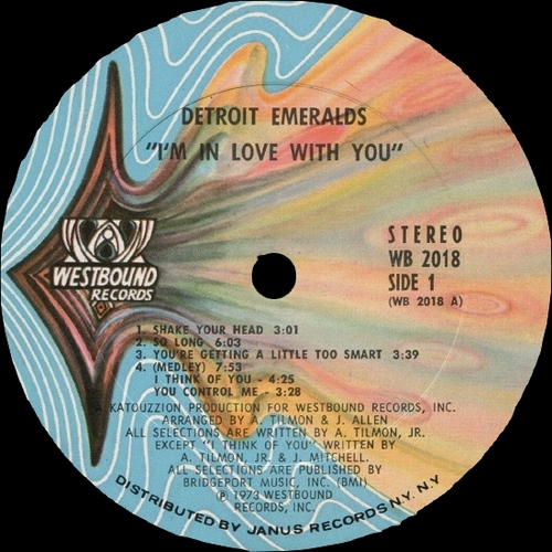 "Detroit Emeralds : Album "" I'm In Love With You "" Westbound Records WB 2018 [ US ]"