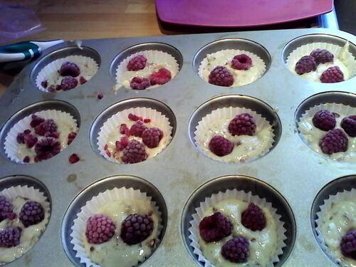 Muffin Amande/framboises {Vegan}