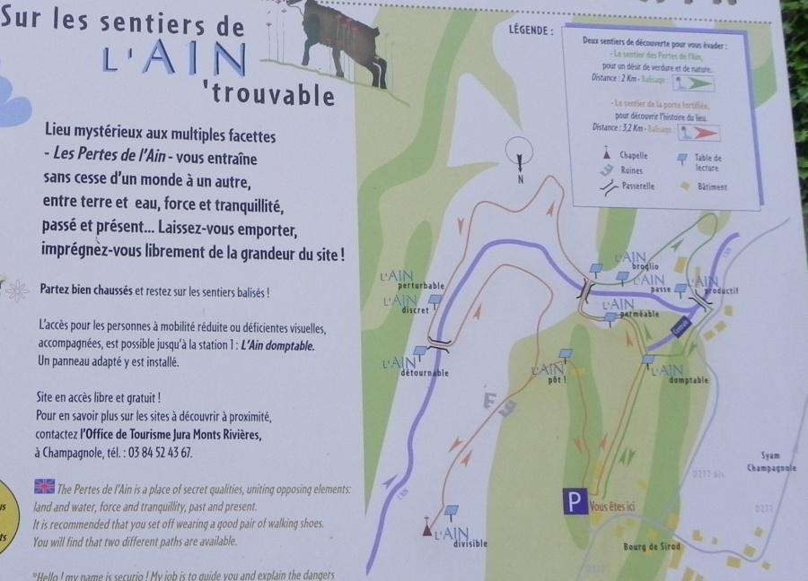 Les pertes de l'ain dans le Jura