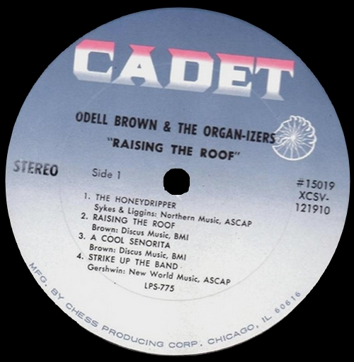 "Odell Brown : Album "" Raising The Roof "" Cadet Records LPS 775 [ US ]"
