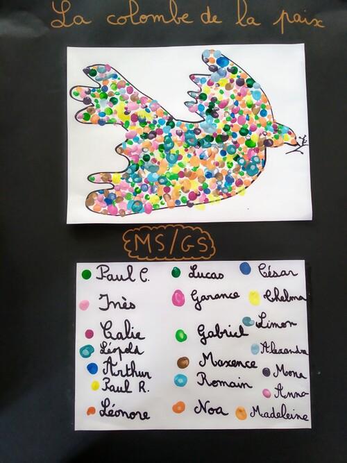 Notre colombe de la paix