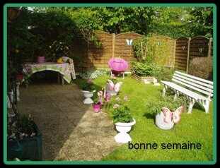 je suis  revenu  et j' adore mon jardin