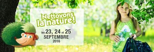 Nettoyons la nature 2016