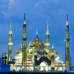 Crystal Mosque à Terengganu, Malysia