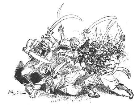 Les bandits exterminèrent Kassim sans pitié.