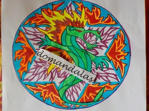 DOMANDALAS  coloriages 3 mandalas dragons
