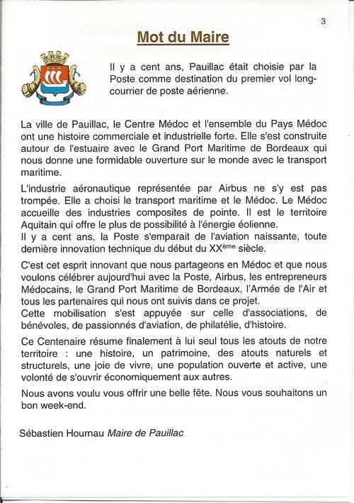 Centenaire de la poste Aérienne Médoc 2013