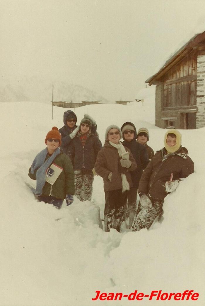 5. Des élèves à Maloja en 1968