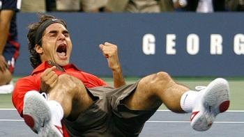 Federer s'effondre en remportant l'US Open 2008