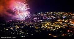 14 juillet au Barachois, feu d'articifice, Michel Fugain ...