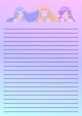 Papier à lettre Coco,Noelle et Karen chanteuse