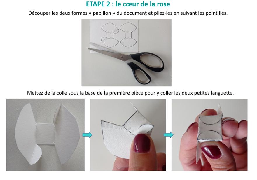 Création d'une rose en papier