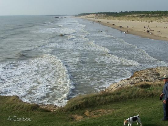 La plage de la Grande-Côte au nord-ouest de Royan