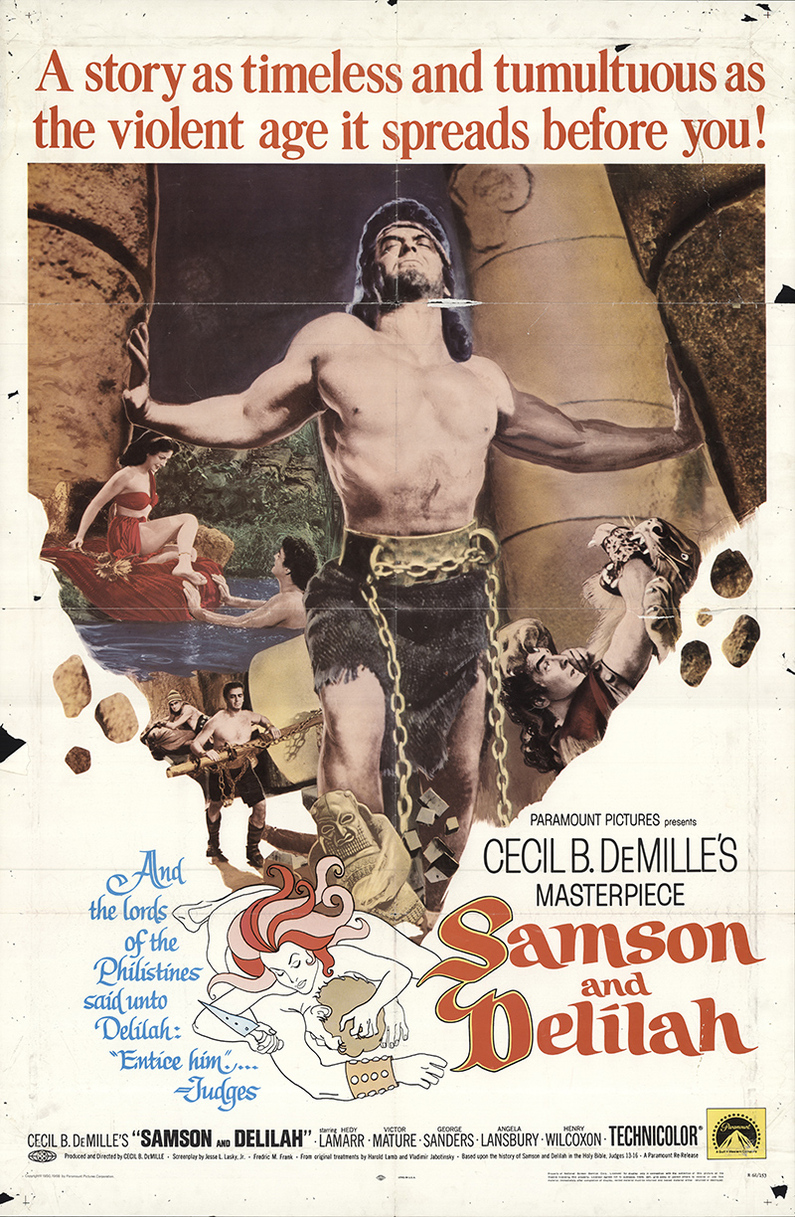 SAMSON AND DELILAH REISSUE 1968 BOX OFFICE