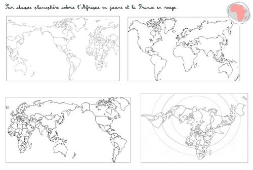 espace : l'Afrique, représentation de la Terre et continent